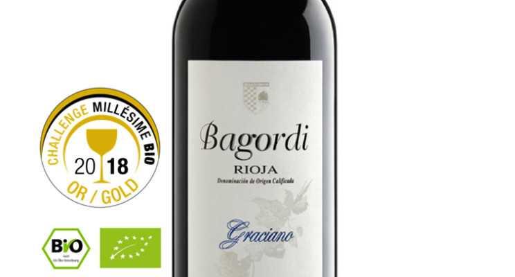 Bagordi Graciano Crianza 2014: Medalla de Oro en el concurso de vinos ecológicos Challenge Millésime Bio